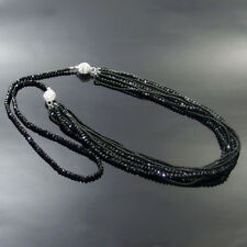 """multi color crystal glass beads multipurpose multi layers necklace 35"""""""