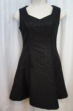 B Michael AMERICA Red Collection Dress Sz 12 Black Textured Metallic Cocktail