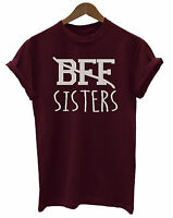 BFF Sisters Funny Slogan Unisex Ladies T-Shirt Fashion Friends Fashion Swag