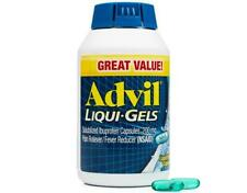 ADVIL LIQUI-GELS 200 COUNT 200 MG IBUPROFEN PAIN RELIEVER EXP 08/2020 OR LATER