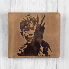Brown Leather Mens Wallet with KES Design by Mustard