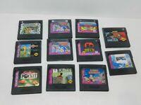 Sega Game Gear Games Fun You Pick & Choose Video Games Lot Tested Carts