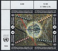 Nazioni UNITE Vienna: 1994 la riduzione dei disastri naturali SG V169-72 Gomma integra, non linguellato blocco