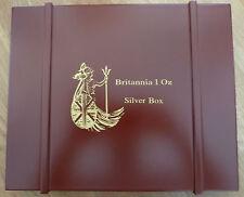Britannia in legno MEDAGLIA Box da 20 x 1 oz monete d'argento