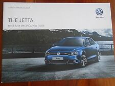 VW Jetta price and specification guide brochure May 2013