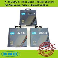 KMC X11SL DLC 11s Bike Chain 118Link Shimano/SRAM/Campy Colors -Black/Red/Blue