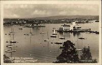 Oslo Norwegen Norge 1937 gelaufen nach Kötzschenbroda Frognerkilen Hafen Schiffe