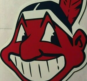 """Cleveland Indians magnet Chief Wahoo car magnet 6"""" tall magnet chief wahoo"""
