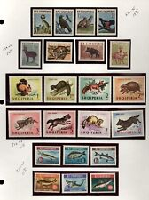 Albania Topical collection BIRDS,ANIMALS,FISH Mint never Hinged in Mounts jp