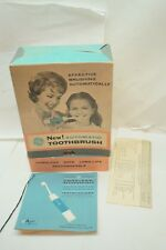 VINTAGE ELECTRIC TOOTHBRUSH 1960s RARE UNUSED IN ORIGINAL BOX GE RECHARGEABLE d