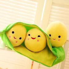 Soft 3 Peas in a Pod Plush Pillow Toy Stuffed Animal Soft Doll Bean Bag 25CM