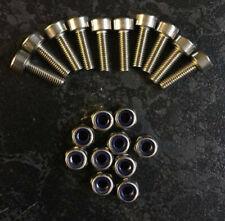 M3 0.5 x 10mm hex head nut & bolts set x10