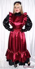 Deluxe Langes Sissy escoltarla Maid vestido delantal pintura de satén TV a mass (mszl 021)