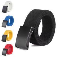 Men/Women Canvas Pants Belt Waistband Military Web Belt Smooth Buckle Trendy US