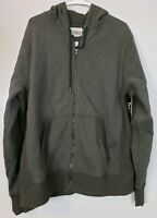 Champion Men's Activewear Jacket Size Large L Green Zip Front Hooded Long Sleeve