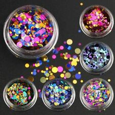 6 Bottles/set Nail Art Glitter Sequins Color Mixed Nail Glitter Powder Women Nai