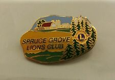 Lions Club Pin Spruce Grove Vintage Pin back