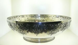 "1915 TIFFANY & CO. STERLING SILVER CENTER BOWL 10"" DIAMETER 3.5"" TALL 915 GRAMS"