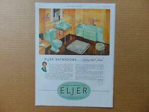 1947 GREEN BATHROOM FIXTURES BY ELJER art print ad