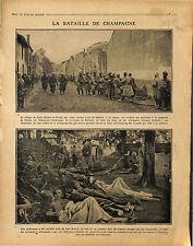 Bataille de Champagne Saint-Hilaire-le-Grand Souain Epine de Védégrange 1915 WWI