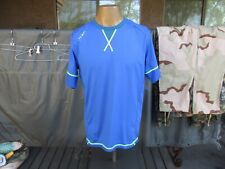 PRIMAL, Blue, Mens' size LARGE, Cycling Riding Shirt, No Zipper Jersey
