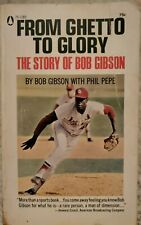 Bob Gibson From Ghetto To Glory Story of Cardinals Paperback Book 1968 Vintage