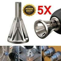 5PC Stainless Steel Deburring External Chamfer Tool Drill Bit Remove Burr Silver