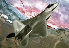 F22 Raptor Fighter Jet Plane Photo Poster Print ONLY Wall Art A4