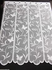 Scheibengardine Kurzgardine Schmetterlinge + Ranken 2 Meter breit x 120cm hoch