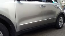 Kia SPORTAGE III SL 10-16 CHROME SIDE DOOR COVERS TRIM STRIP Moulding 3M Tuning