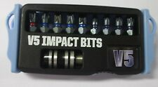 V5 IMPACT 25MM 10 Pce SET PZ2 PH2 TORX WITH MAGNETIC ADAPTOR FITS MAKITA DEWALT