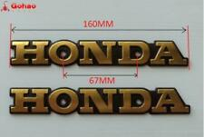 2X Gold Metal Fuel Tank Emblem Badges  for Honda Classic Retro Motorcycle Custom
