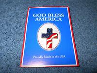 GOD BLESS AMERICA PATRIOTIC AMERICAN FLAG CROSS METAL & ENAMEL LAPEL PIN - NEW