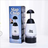 Slap Chop Slicer with Stainless Steel Blades | Vegetable Chopper Gadget | Mini C