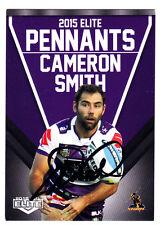 CAMERON SMITH MELBOURNE STORM 2015 ESP NRL ELITE PENNANTS SIGNED CARD