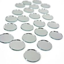 "24 rOund Mirrors 1/2"" inch diameter Circle Shape circular Real Glass Mirror tile"