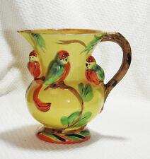 1930's Wadeheath Art Deco Tropical Bird Jug Vase Pitcher - Rare! Hard to Find!