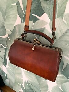 Sac type docteur DANIEL SUJOL Barbentane cuir Vintage bag AUTHENTIQUE