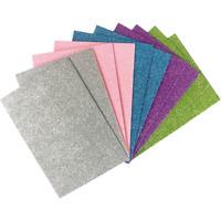 4 feuilles métalliques Look 2 Tone Glitter Papier-Jaune Pâle