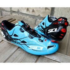 New SIDI SHOT Carbon Road Bike Cycling Shoes Blue Sky Black US-WAREHOUSE