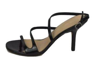 Via Spiga black patent leather upper strappy sandals size 8M