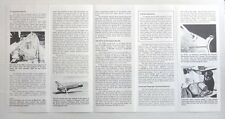 USA SPACE SHUTTLE Information sheet used Oct 30 1985