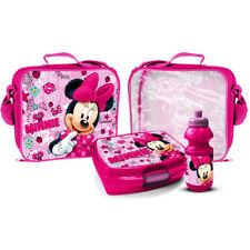 Minnie Mouse Caja de almuerzo bolsa sándwich conjunto de Botella de agua producto con Licencia Oficial