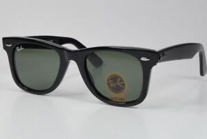 Ray-Ban WAYFARER RB2140 Sonnenbrille 901 50-24 3N schwarz, NEU in Etui; K76