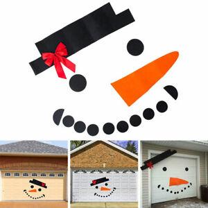 Christmas Snowman DIY Stickers Outdoor Dress Garage Door Window Wall Home Decor