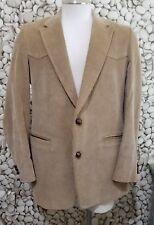 Riata Men's Brown Western Corduroy Sport Coat Jacket 42 Regular Large