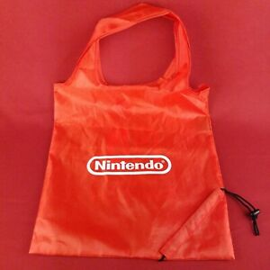 "RARE Red OEM Nintendo Switch Reusable 15"" x 16"" Shopping Bag"