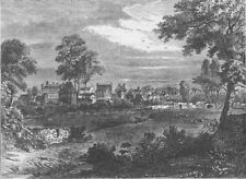 KENSINGTON. Old view of Kensington, about 1750. London c1880 antique print