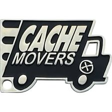 Cache Movers Geocoin- Polished Nickel finish, Unactivated