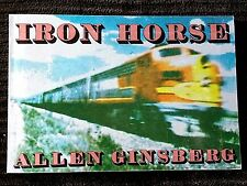 FLAT SIGNED BY Allen Ginsberg IRON HORSE, 1974 STATED FIRST City Lights Ed. FINE